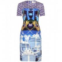 Mary Katrantzou Katt Sphinx Print-Kleid