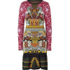 Mary Katrantzou Purplerose Lily Pattern Knit Dress