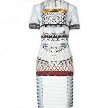 Mary Katrantzou Silver Snowglad Silk Dress for STYLEBOP.com
