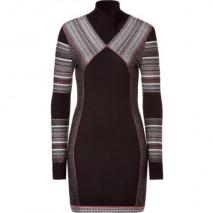 Matthew Williamson Black/Brown Panelled Knit Dress