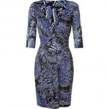 Matthew Williamson Blue Draped Front Jersey Dress