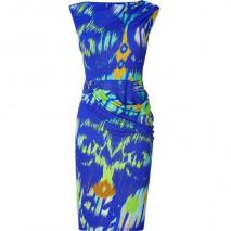Matthew Williamson Cobalt Blue Draped Jersey Dress