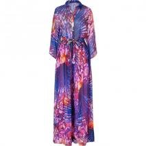 Matthew Williamson Escape Pink-Multi Wide Leg Printed Silk Jumpsuit