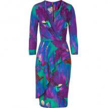 Matthew Williamson Jade/Amethyst Printed Frill Day Dress