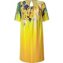 Matthew Williamson Mustard Printed Silk Dress