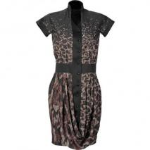 Maxime Simoens Black Butterfly-Print Dress