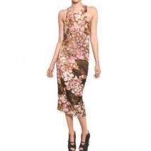 McQ Alexander McQueen Bedrucktes Jersey Stretch Baumwoll Kleid