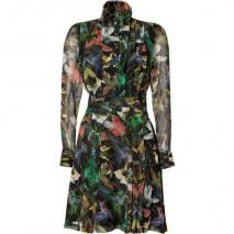 McQ Alexander McQueen Black/Jungle Hummingbird Print Dress