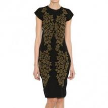 McQ Alexander McQueen Blatt Intarsia Kleid