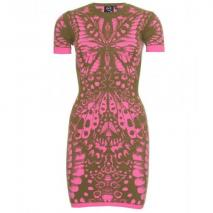 McQ Alexander McQueen Intarsien-Strickkleid Light