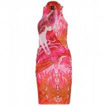 McQ Alexander McQueen Stretch-Kleid Mit Psychedelischem Muster