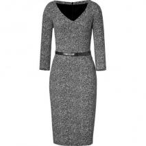Michael Kors Black/Ivory Belted Dress