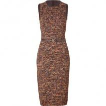 Michael Kors Brown Belted Sheath Dress
