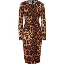 Michael Kors Leopard Knot Front Dress