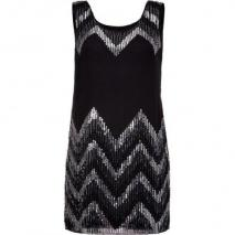 Milly Black Beaded Silk Dress