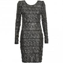 Minimum Langarm-Kleid grau