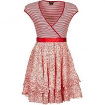 Miss Sixty Witty Dress Sommerkleid rot/weiß