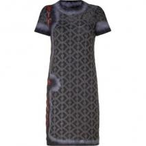 Missoni Asphalt/Rosewood Wool-Blend Variegated Knit Dress