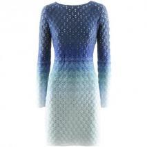 Missoni Blue Glitter Knit Dress