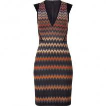 Missoni Carneol/Obsidian Patterned Knit-Dress