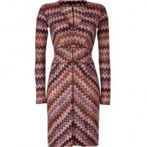 Missoni Copper/Lavender ZigZag Patterned Dress