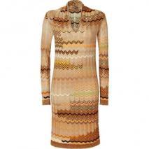 Missoni Honey/Corn Wool-Blend Variegated Knit Dress