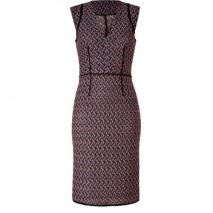 Missoni Lavender/Black Patterned Knit-Dress