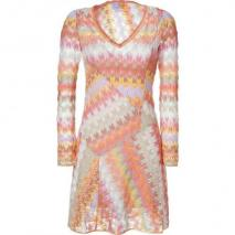 Missoni Lychee Multicolor V-Neck Dress