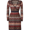 Missoni M Black/Mandarin-Multi Knit Dress
