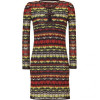 Missoni M Chocolate/Lemon Multi Patterned Knit-Dress