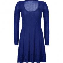 Missoni M Dark Blue Wool-Blend Scoop Neck Knit Dress