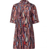 Missoni M Nougat/Red Printed Silk Dress