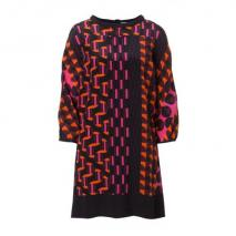 Missoni M Seiden Kleid Multicolor Orange