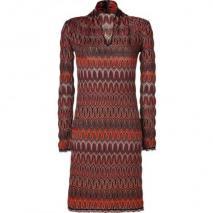 Missoni Saffron/Stone Wool-Blend Variegated Knit Dress