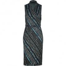 Missoni Slate/Aquamarine Metallic Belted Knit Dress