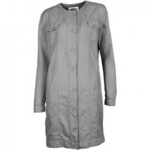 Mm6 Kleid im Mantelstil grey