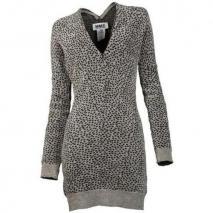 Mm6 Kleid mit Gepardenmuster grau