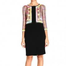 Moschino 3/4 sleeve cady acted jacket trompe l oeille dress