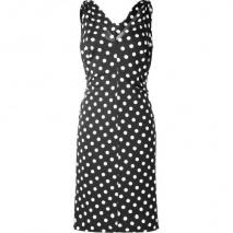 Moschino C&C Black Polka Dot Jersey Dress