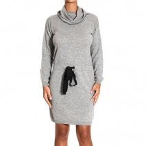 Moschino Long sleeve crater neck coulice dress