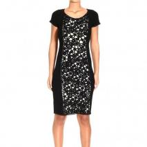 Moschino Long sleeve double macrame dress