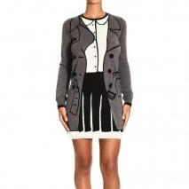 Moschino Long sleeve round neck tromp l peuil dress