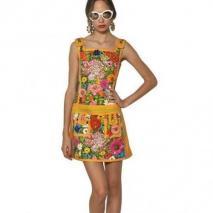 Moschino Paillettenblumen Auf Baumwoll Stretch Kleid