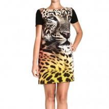 Moschino Short sleeve tiger print dress