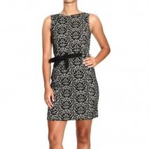 Moschino Sleeveless brocade with bow dress