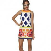 Moschino Stretch Baumwoll Kleid Mit Paillettenapplikation