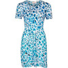 Mw Matthew Williamson Jerseykleid white/turquoise