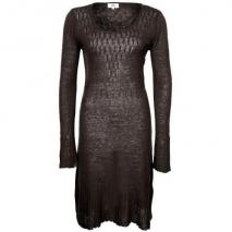 Noa Noa Strickkleid dark brown
