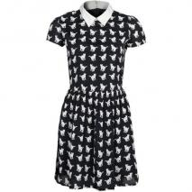 nocollection Aurelie Blusenkleid black/white