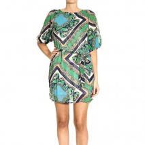 Orion London 3/4 sleeve printed dress georgette fabric